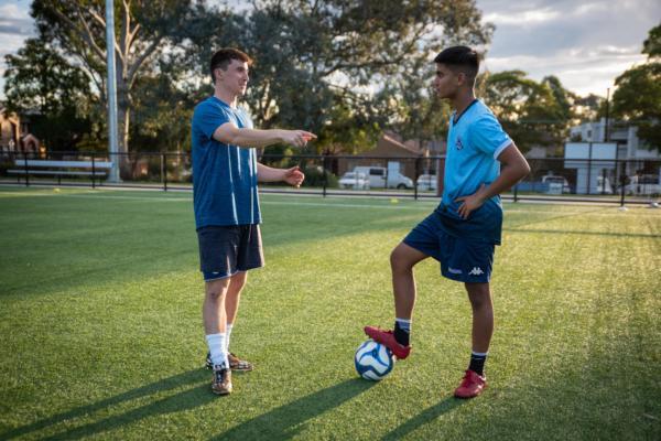Soccer tutor David gives some advice